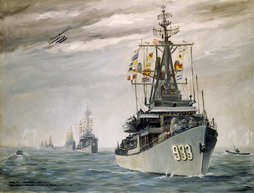 Joseph DeThomas Homecoming of Destroyer Squadron 24